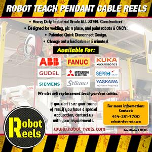 Robot Teach Pendant Cable Reels - Robot Reels LLC